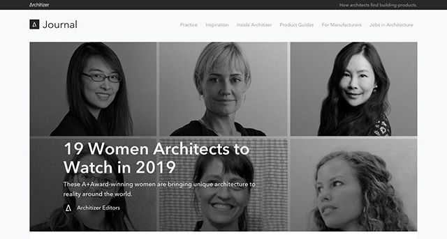 Architizer compiled a badass list of talented architects. Read about their work above.