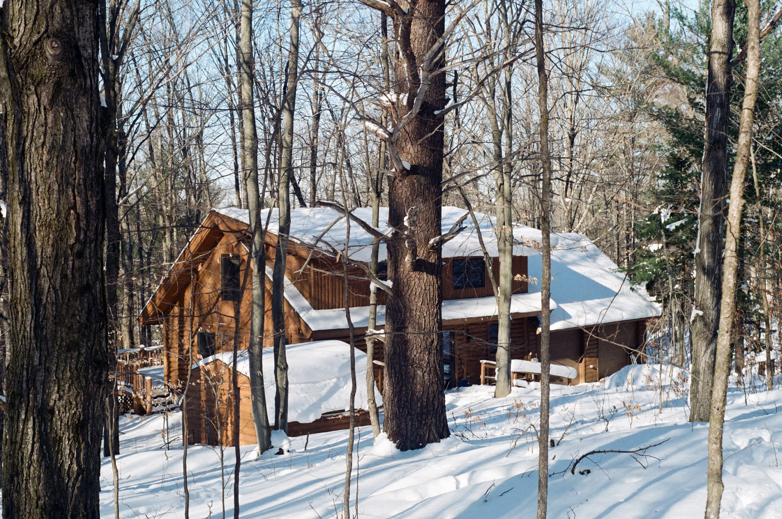 Photo of Hill House in winter by Hill House Artist Residency alum Jennifer Crighton.