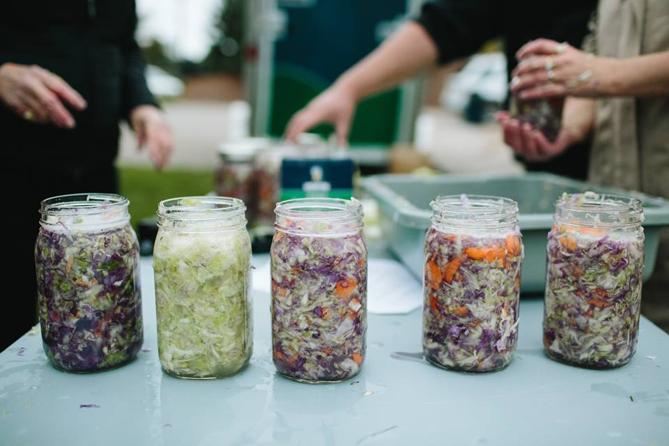 Culture starts on the farm—and in the company of your neighbors. Sauerkraut workshop courtesy of  Preservation Station