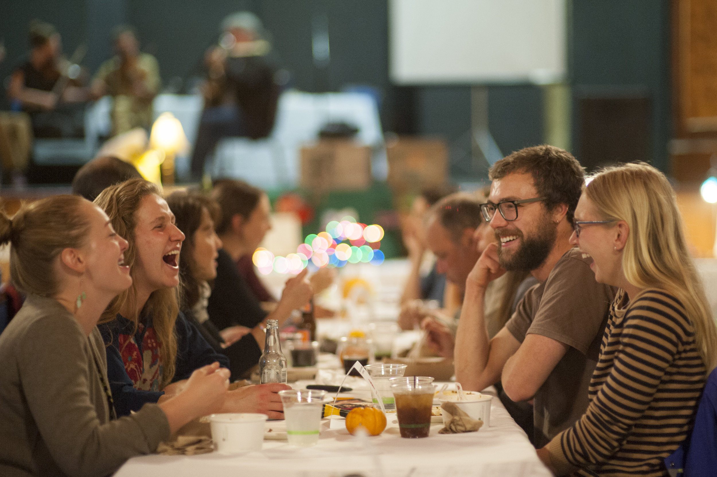 We believe in the power of putting people in the room together. With food and music, whenever possible.