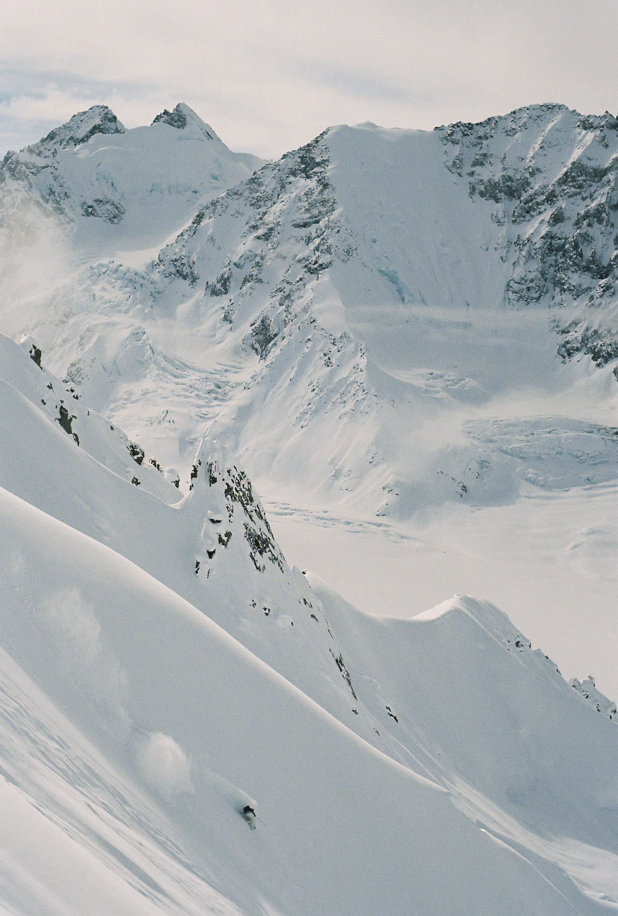 Steep and deep in the Tordrillo Range, AK