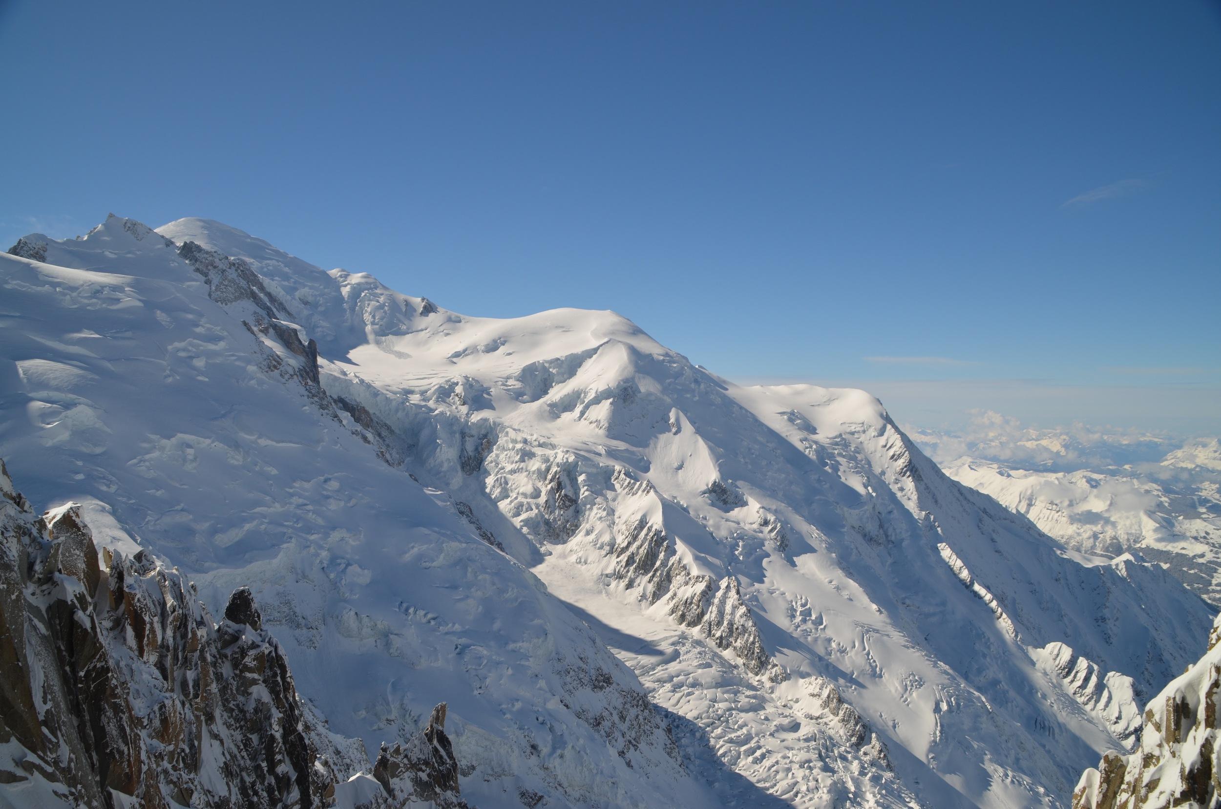 Mt. Blanc and the Tacul glacier