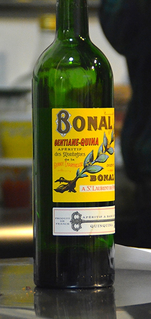 The evening started with Bonal, a French apéritif