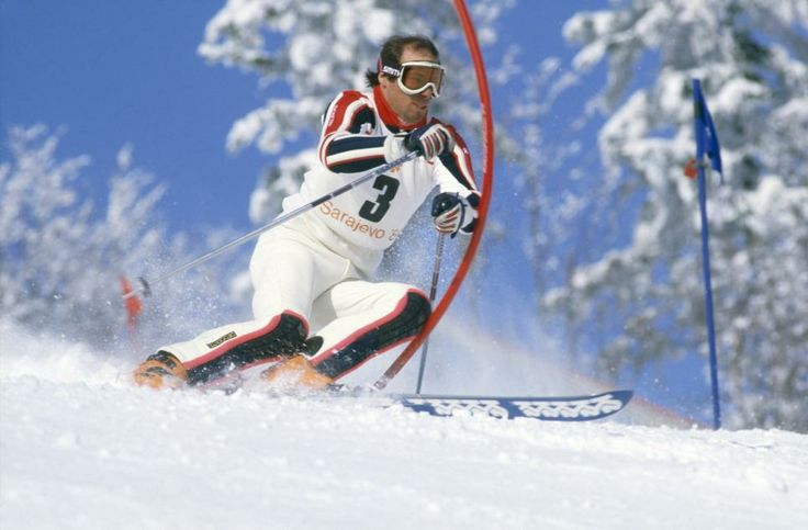 "Steve led after the first run of the '84 slalom, but was caught by Phil for the gold. His response: ""Phil was born four minutes ahead of me - I've been chasing him ever since"""