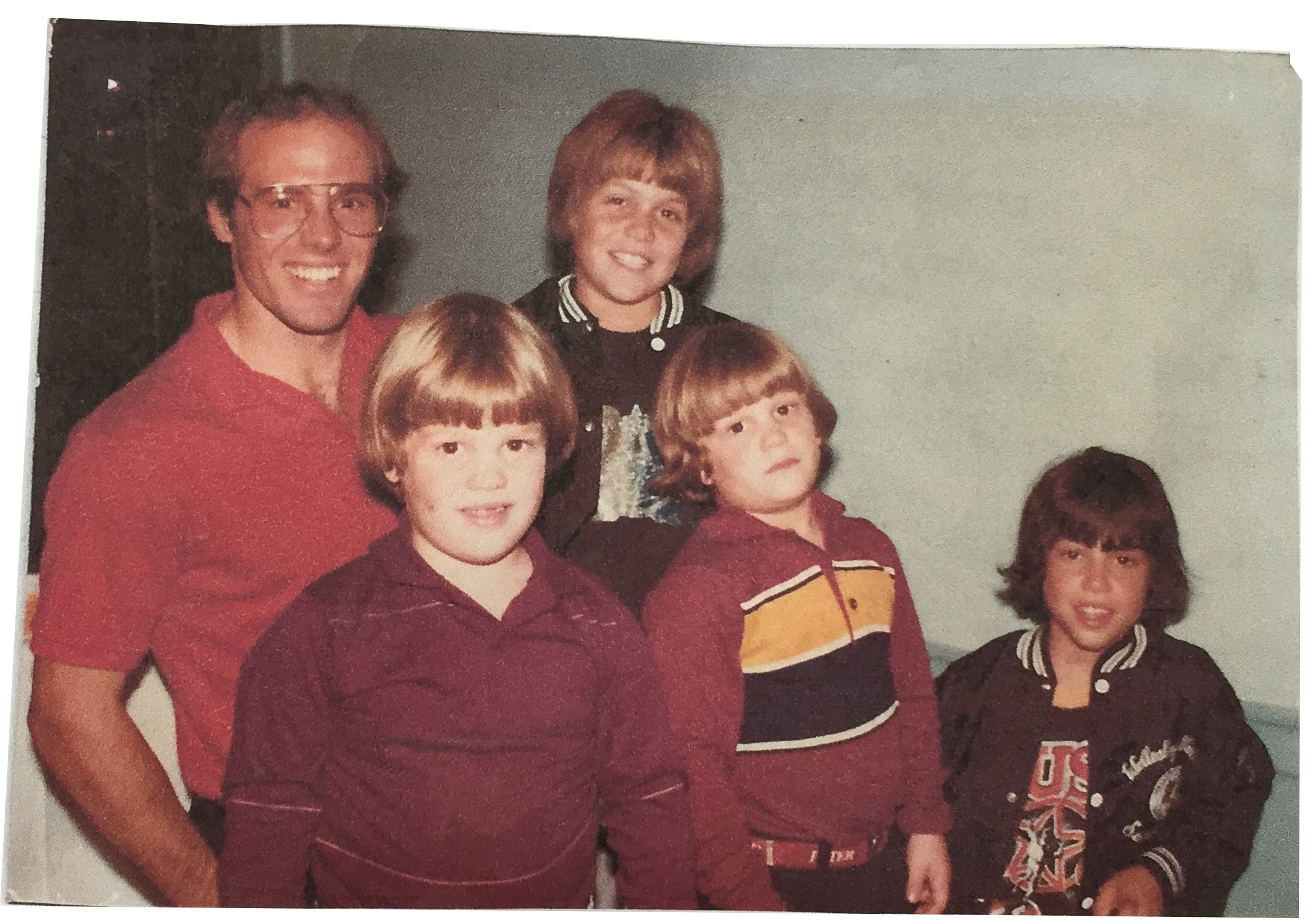 The Joseph boys with Phil Mahre in 1983