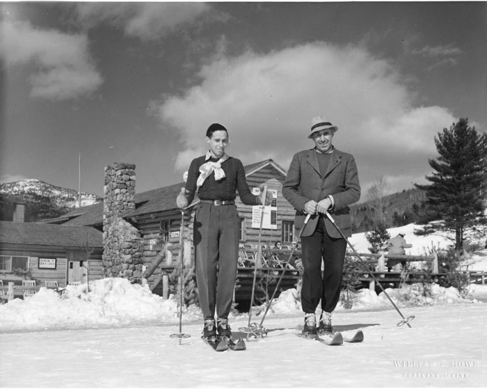 At Cranmore Mountain in 1939. Hannes immediately set up a new ski school to continue teaching upon arrival in New Hampshire. In the 1940s during World War II, he helped train solders in the 10th Mountain Division, including his son Herbert, who was a member of the 10th.