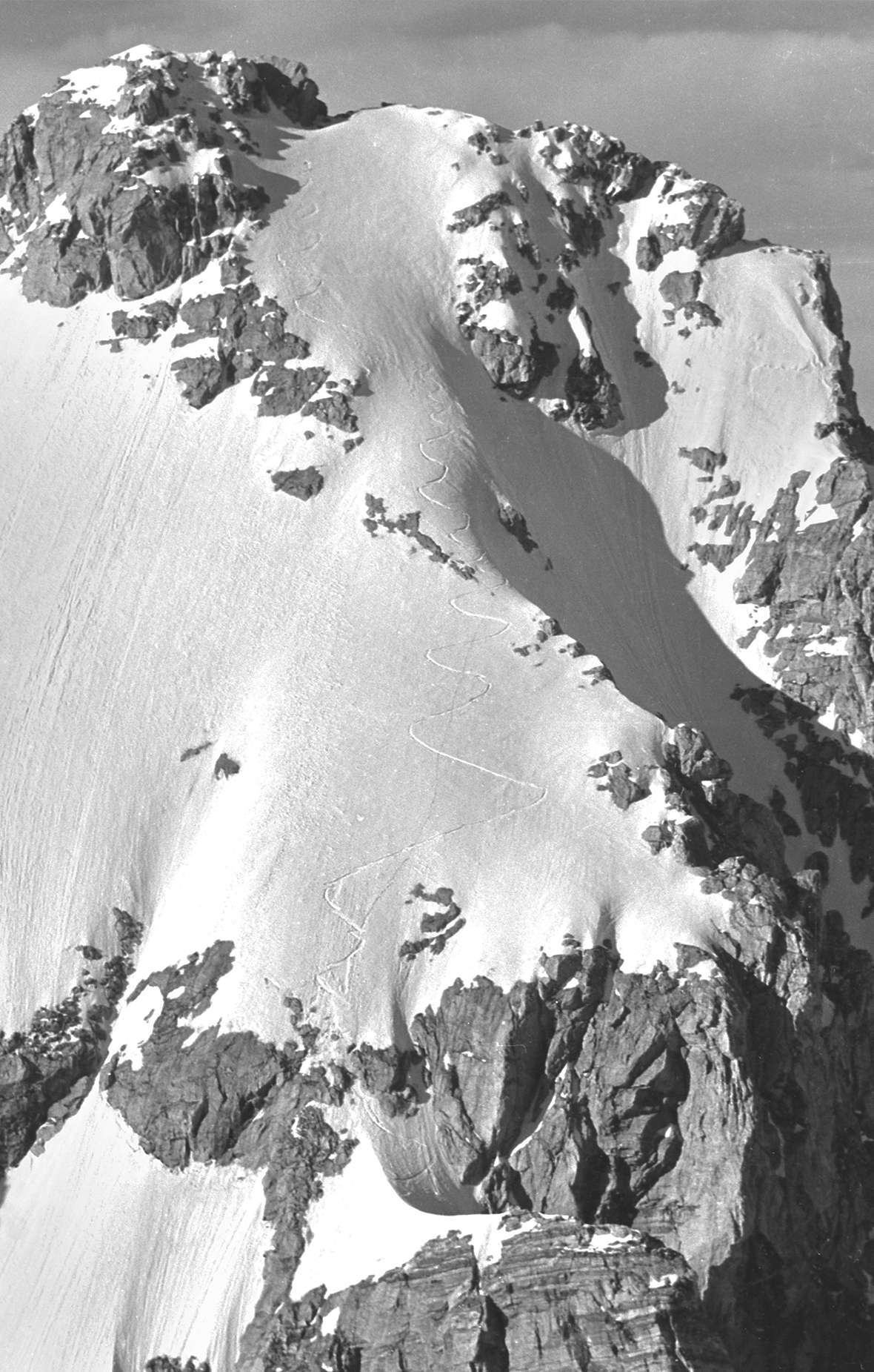 Bill's line down the Grand Teton