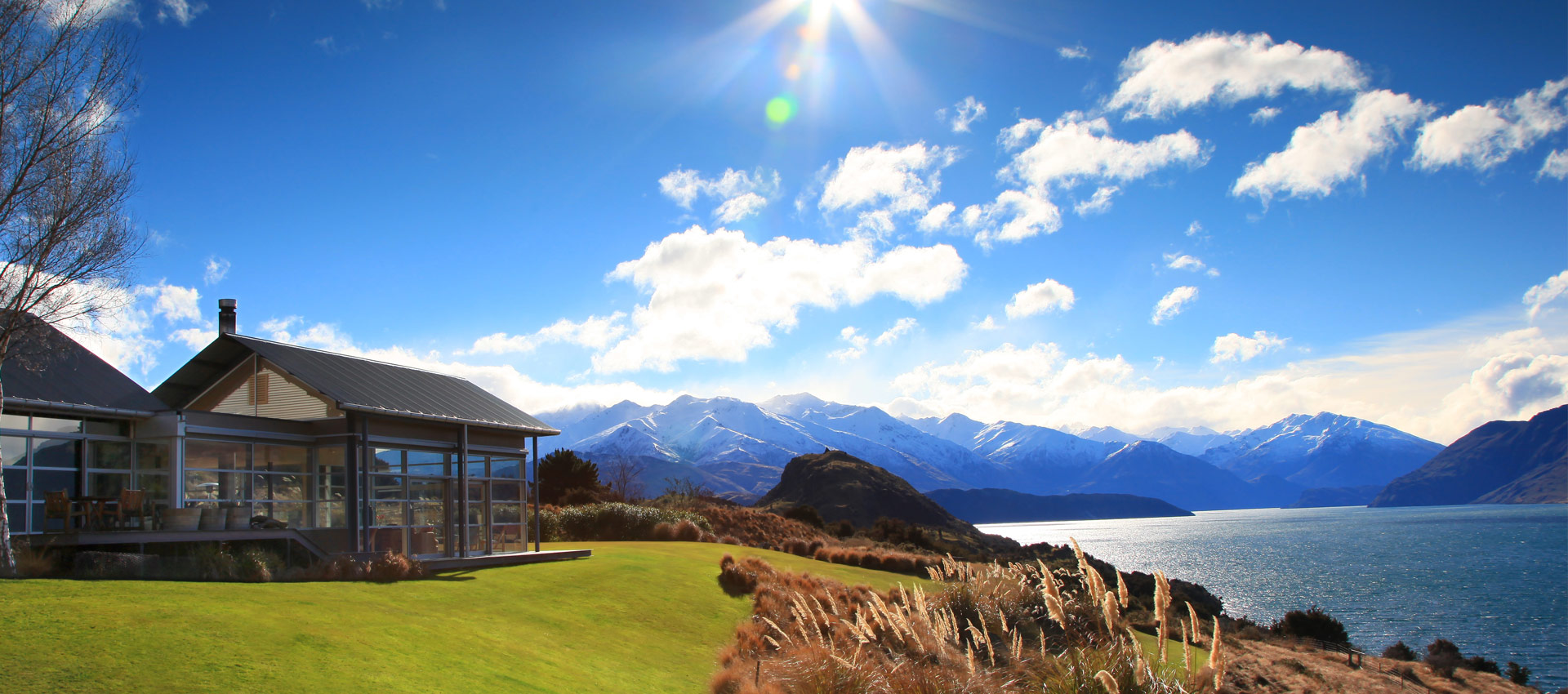 The Whare Kea front lawn