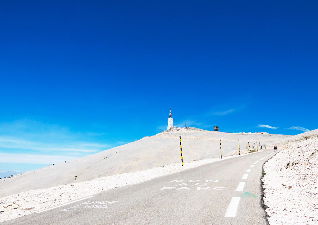 Mont Ventoux, a legendary mountain climb that appears on the Tour route every few years