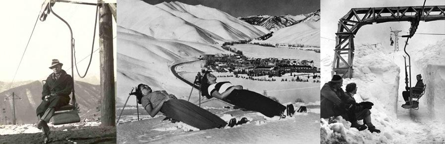 The first chairlift at Sun Valley, Idaho