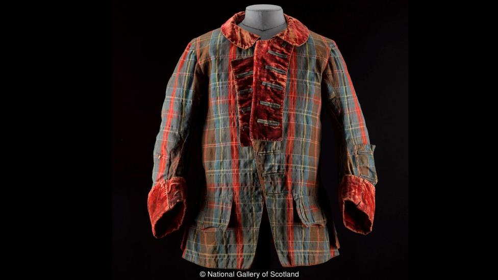 A tartan jacket worn by Bonnie Prince Charlie during the Jacobite rebellions