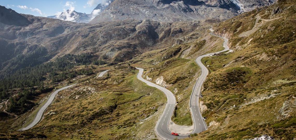 Driving the Bernina Pass to St. Moritz