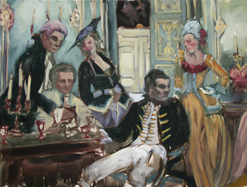 """The Drawing Room of the Rich and the Bored""  2006, oil on canvas, 163 x 122 cm"