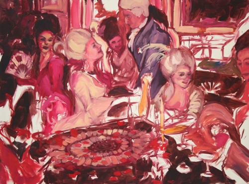 """""""Roulette""""  2006, oil on canvas, 163 x 122 cm"""