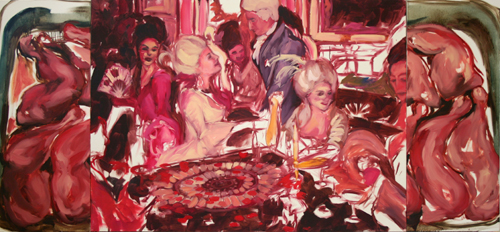 """Raw Meat Roulette""  2006, oil on canvas, 259 x 122 cm"