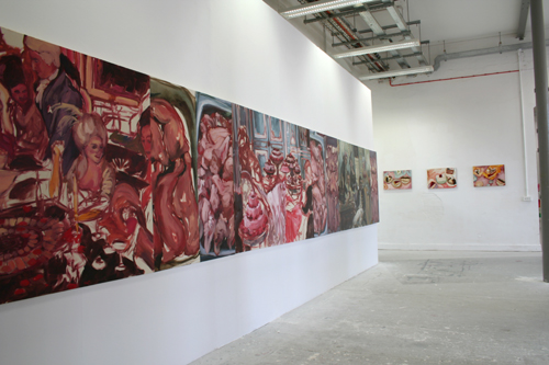 "Exhibition View, London, UK  ""Panorama"", 2006, oil on canvas, 561 x 122 cm"