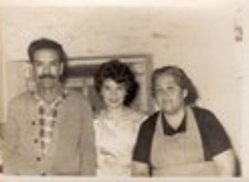 "From left to right: Cristina's maternal great grandfather [bisabuelo], ""Don Lalo"" (Eduardo Valenzuela Delgado+); Cristina's maternal grandmother [abuela], ""Malicha"" (Maria Luisa Valenzuela Roman); and ""Doña Cuquita"" (Refugio Roman Ramirez+)."