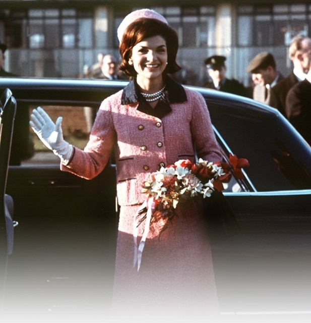 Jackie Kennedy on an official visit to London in 1962