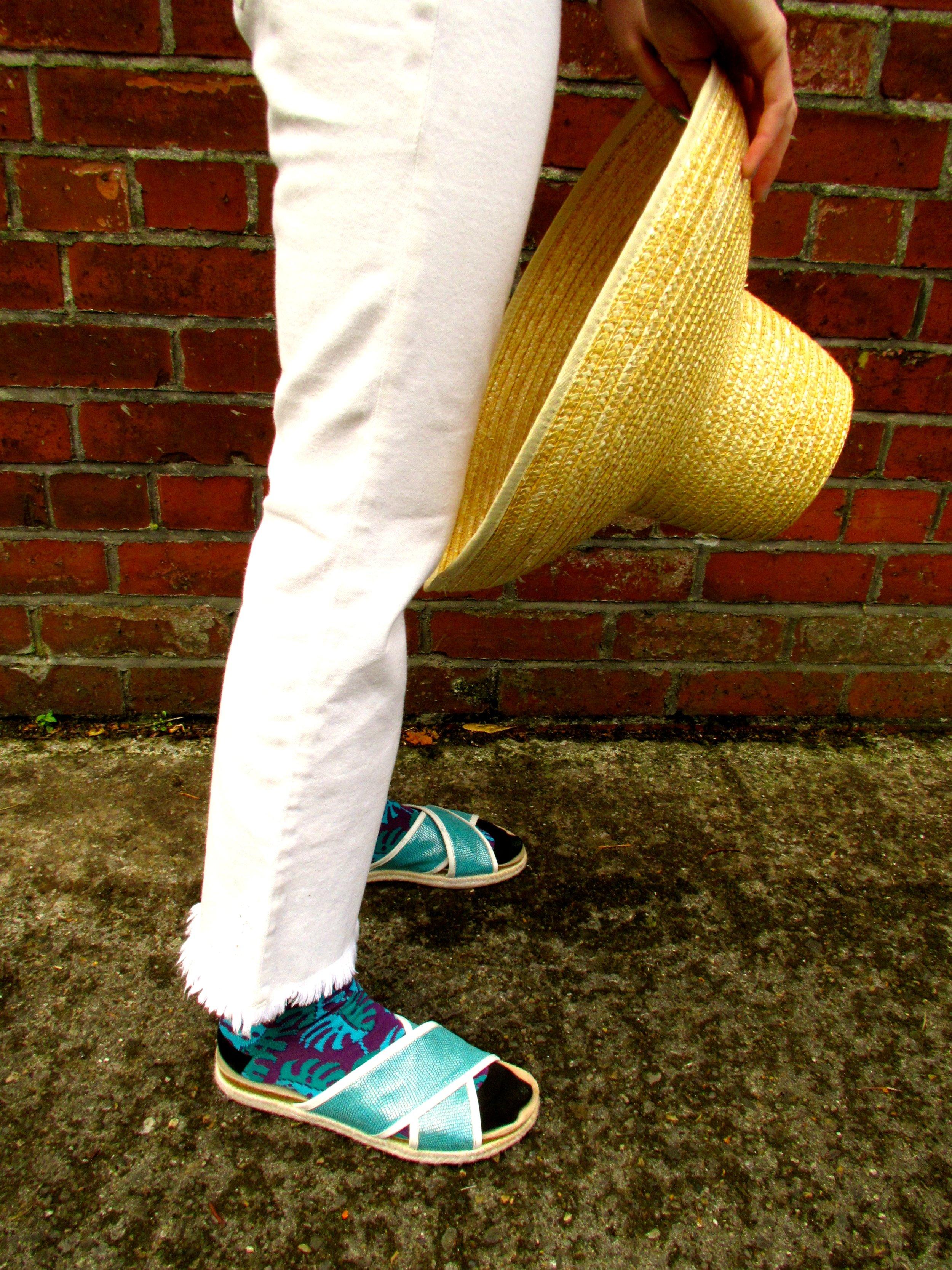 Purple/ Green cotton 'Simla' Socks, Rory Hutton