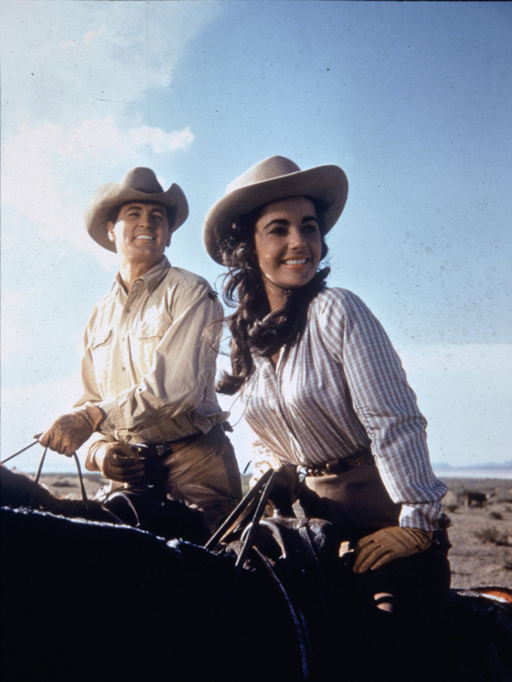 Rock Hudson and Elizabeth Taylor, Giant, 1956