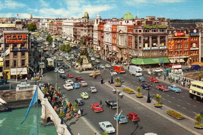 O'Connell Bridge and Street in the 1970s