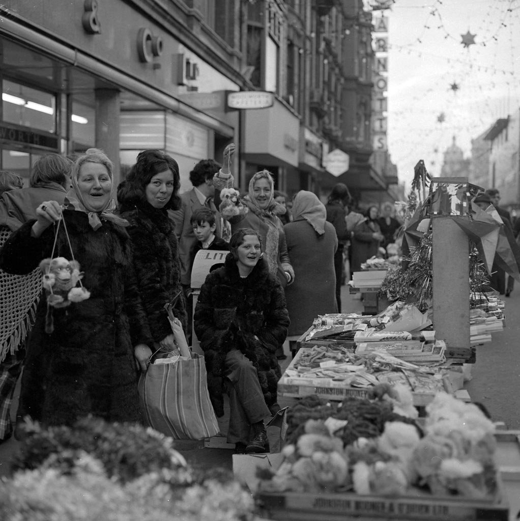 Christmas shopping on Henry Street, Dublin, 1960s