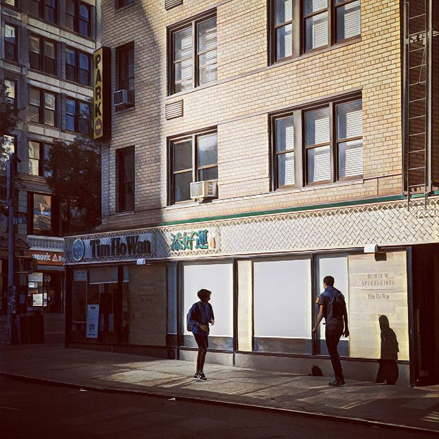 Beautiful light slivers in the streets on the LES.