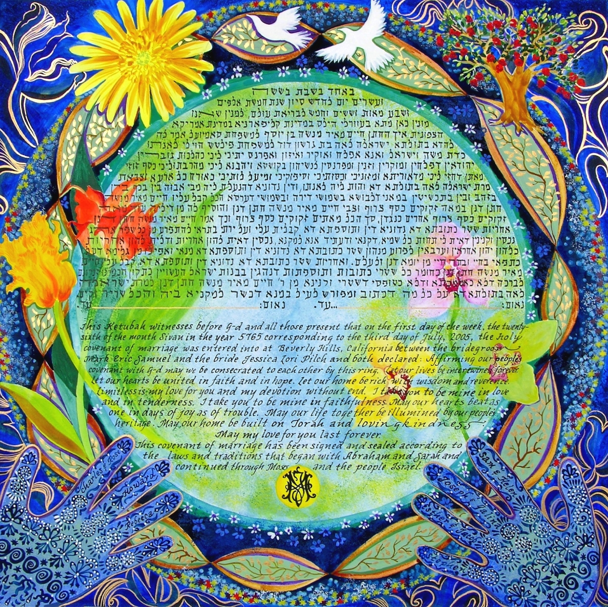 Monogram Ketubah, 2005, Beverly Hills, California