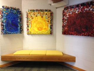"""Relationships"" triptych installed at Westmoor School, Northbrook, Illinois"