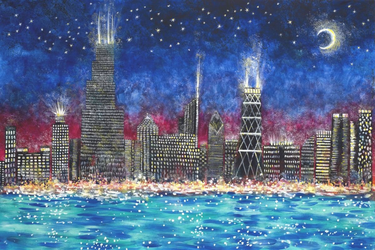 Chicago Skyline, Commissioned Painting