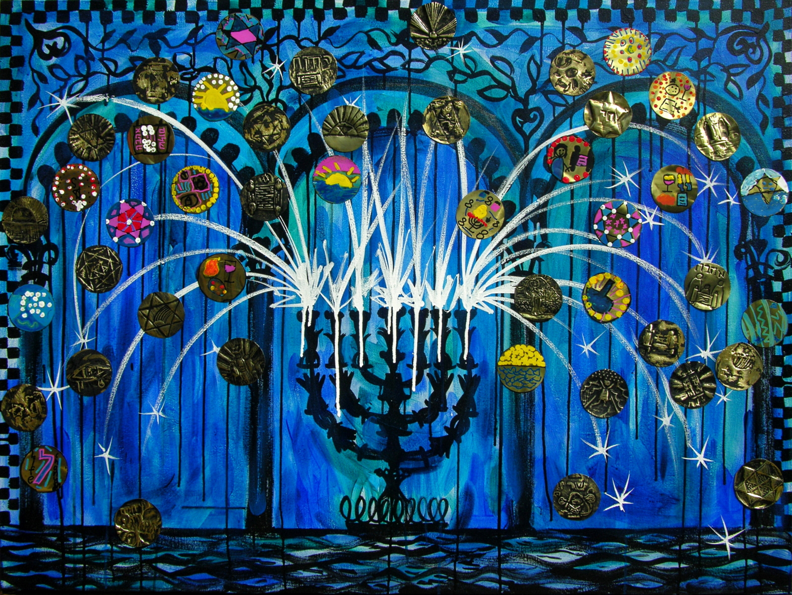 Sparks of Light, Lobby Painting for KAM Isaiah-Israel, Chicago