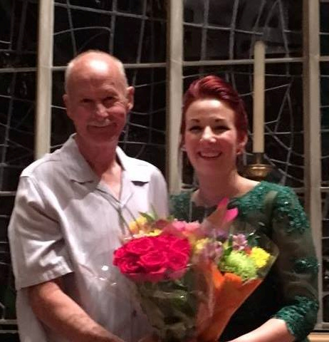 Chelsea Betz, after her recital with her father