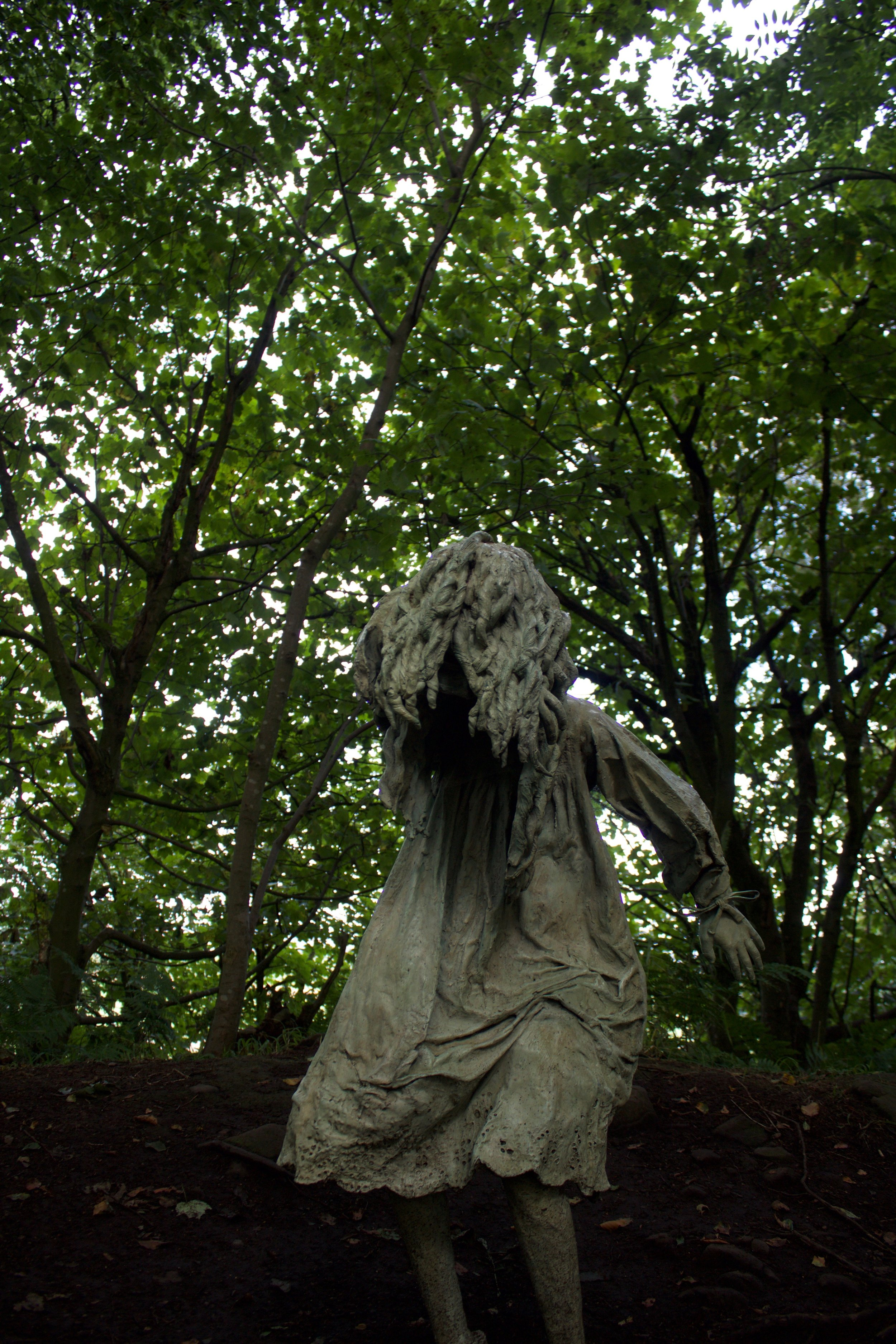 Weeping Girls  by Laura Ford (Hand carved from waxes, cast from found objects, patinated and painted bronze)
