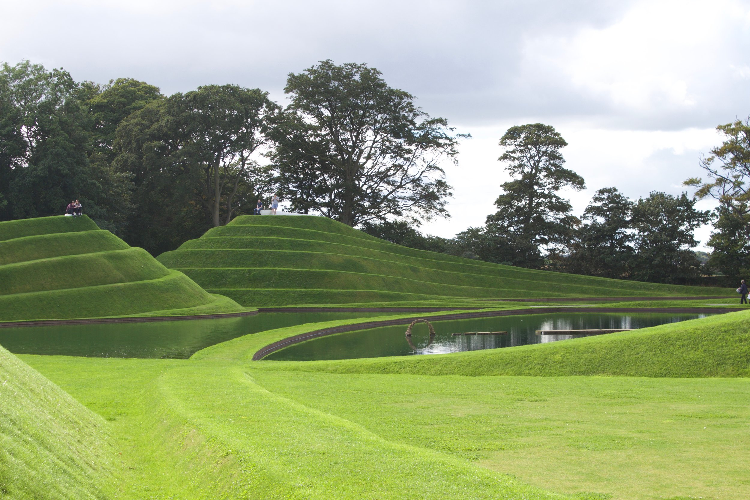 """Life mounds by Charles Jencks (made from earth) """"A landform celebration of the cell as the basis of life"""" - CJ"""