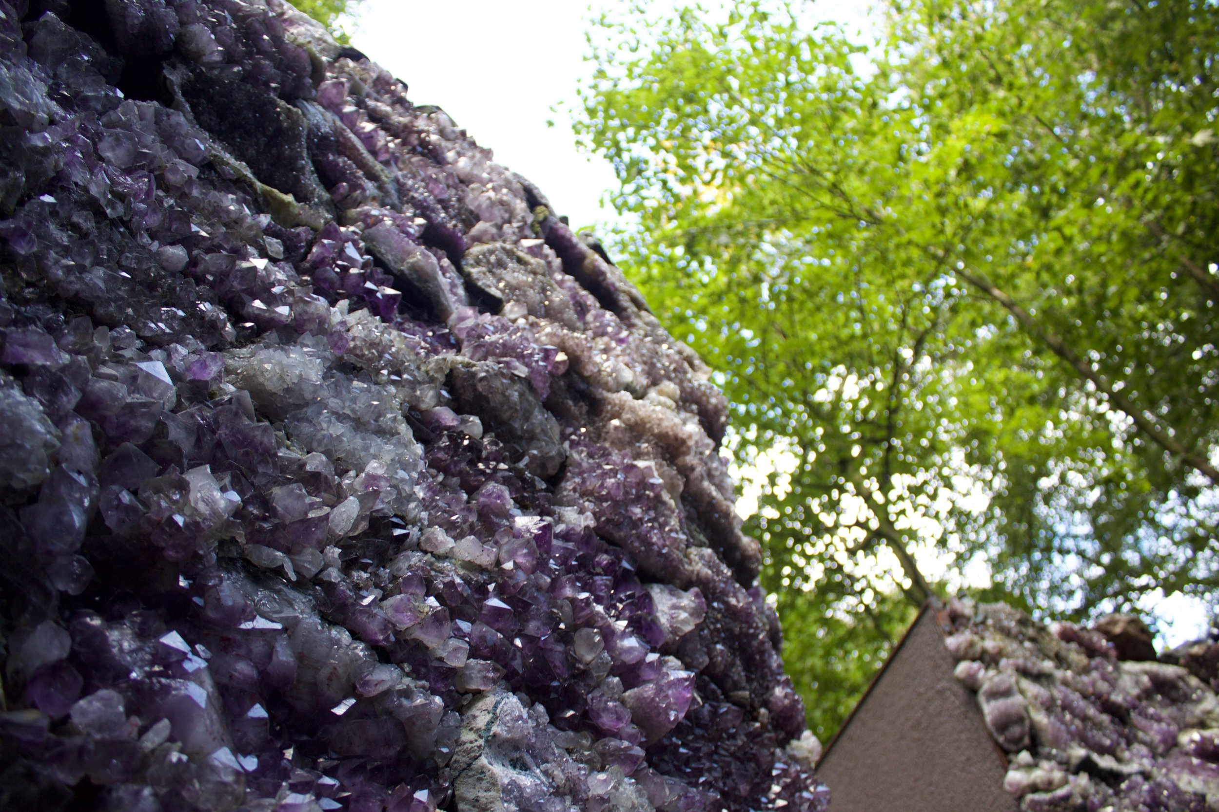 The Light Pours Out of Me  by Anya Gallaccio (An underground chamber of amethyst surrounding by obsidian in its natural state)