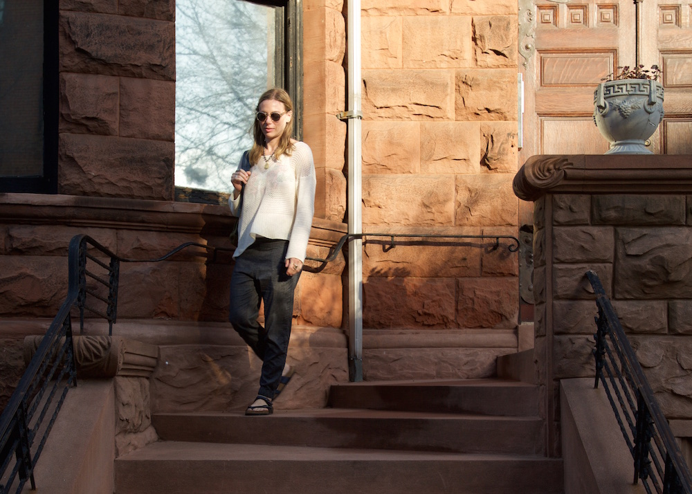 The prAna Annexi Pant in Herringbone ($85) and Liana Sweater in Winter ($79) are made from sustainable hemp and organic cotton. ( www.prana.com )