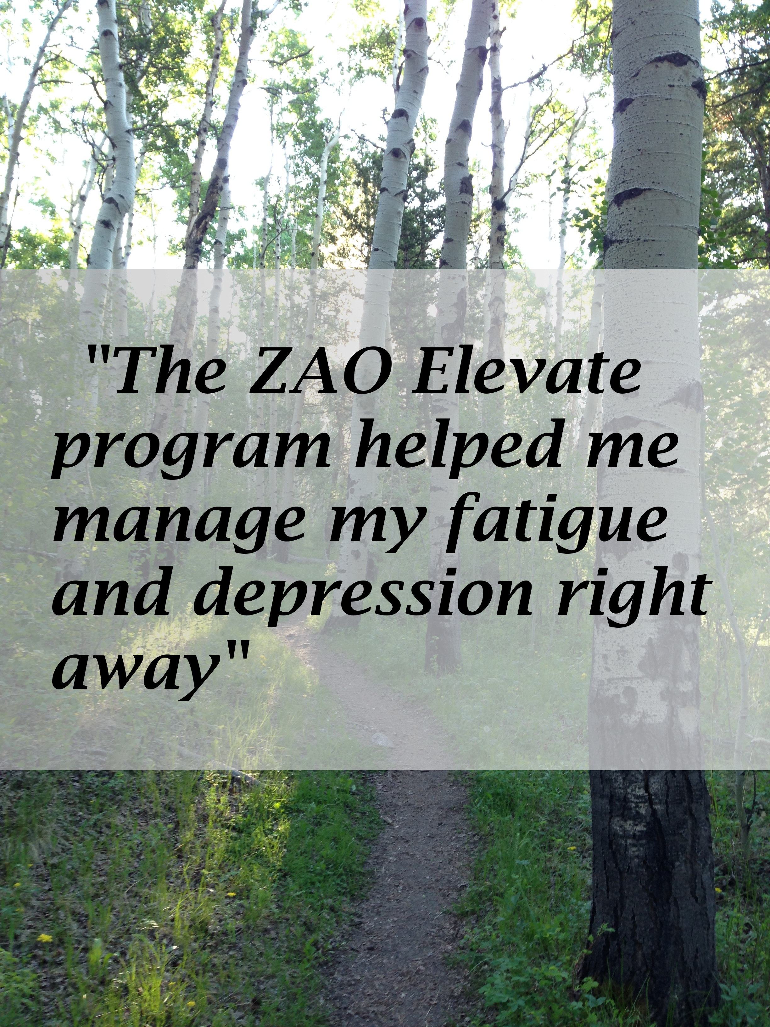 ZAO Elevate is helping women of all ages get their lives back. Read their stories  HERE!
