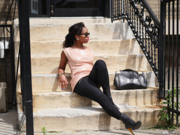 Zara Skinny Moto Jean s;Vintage sequined shift dress