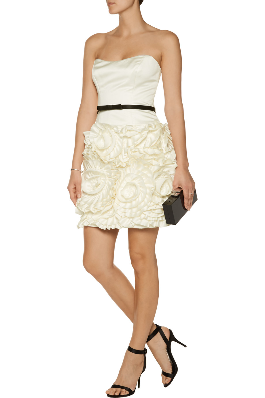 Milly rosette mini dress, $218