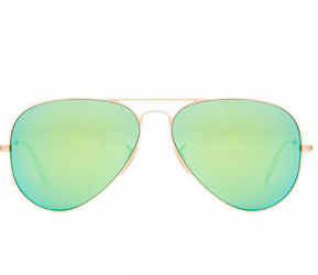 Ray Ban Greenery Aviator Sunglasses