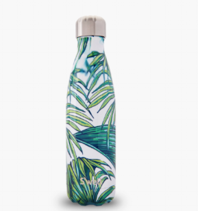 Swell Water Bottle Greenery Hawaii Waikiki Print