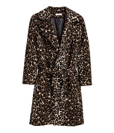 HM Statement Coat Leopard