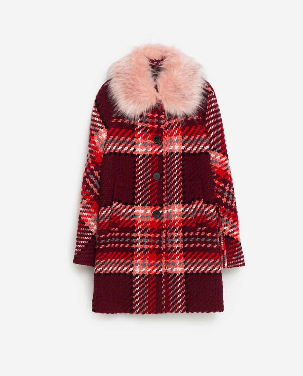 Zara Check Statement Coat