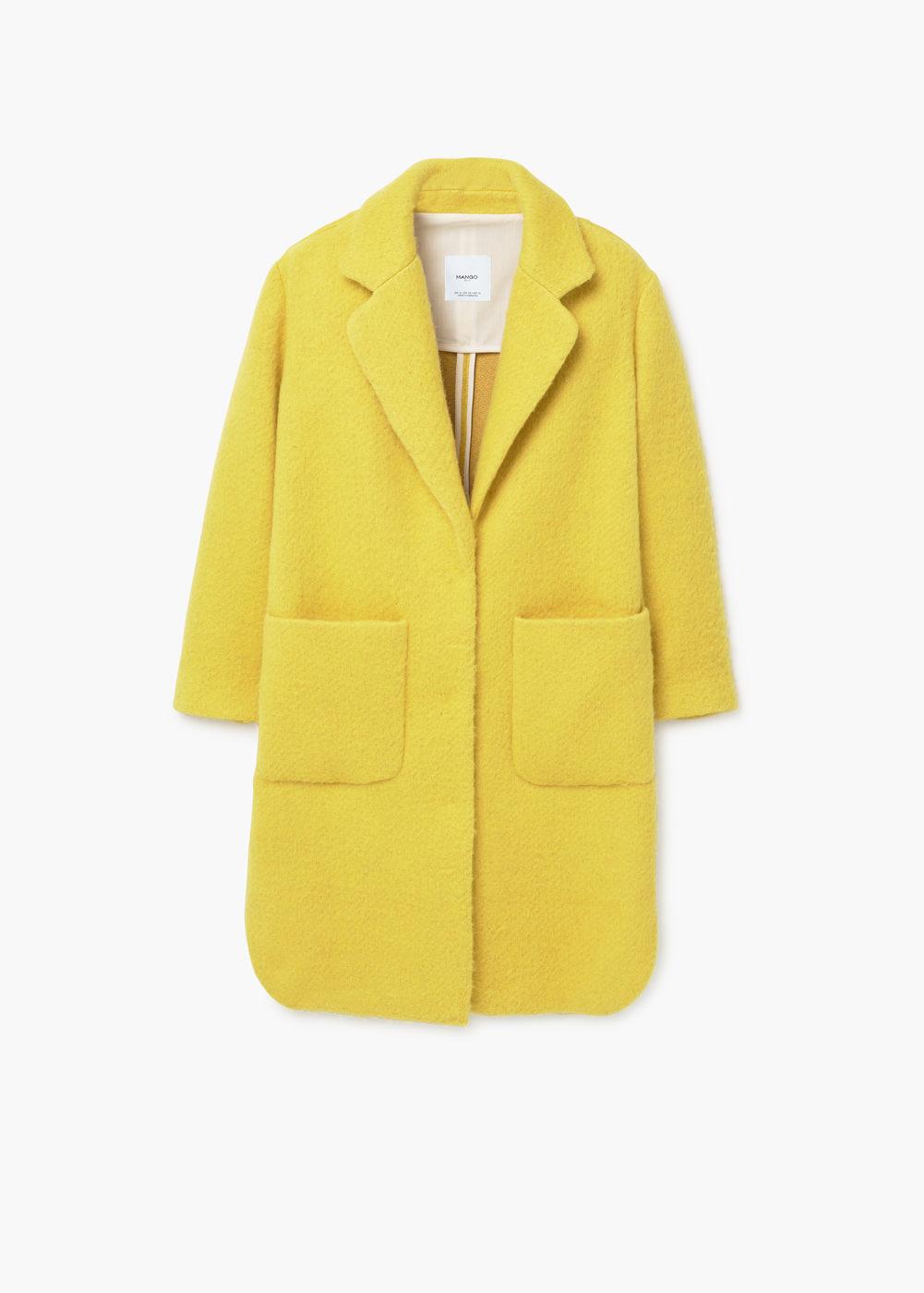 Yellow Mango Statement Coat
