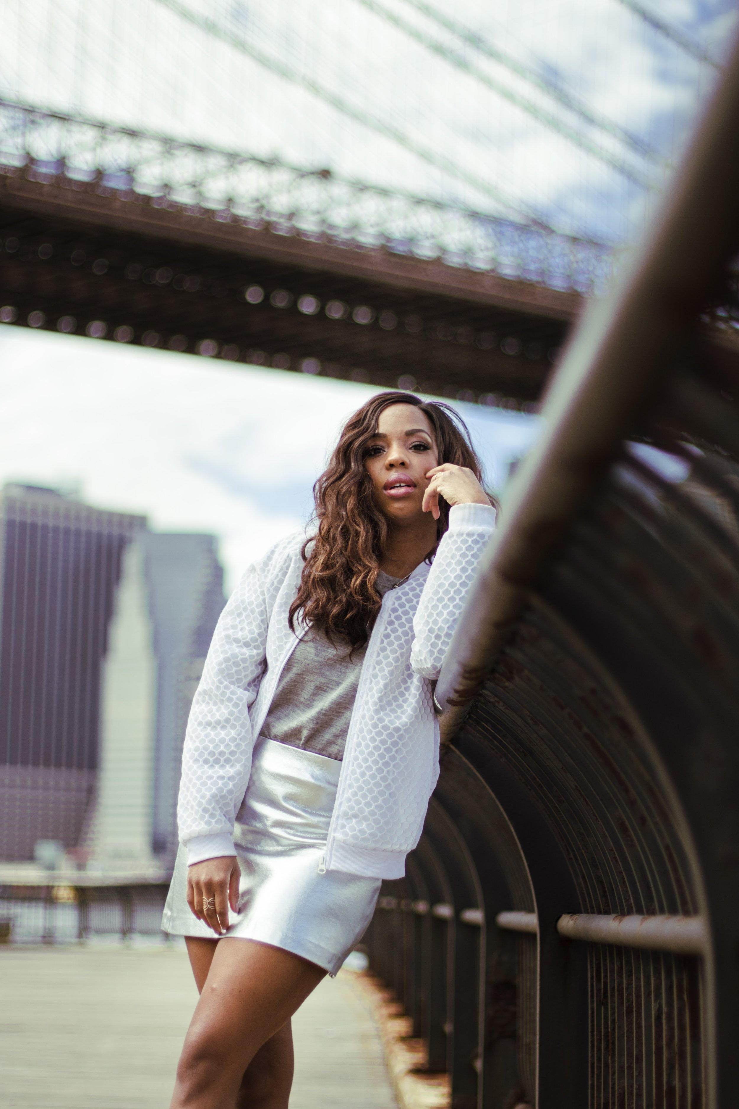 All Silver Trend Outfit Editorial New York