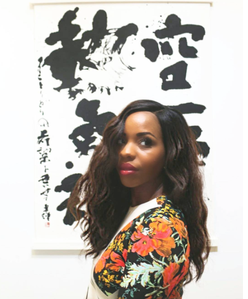 Me at Scope with a piece by Yuuki Kobayashi, captured by Julius July