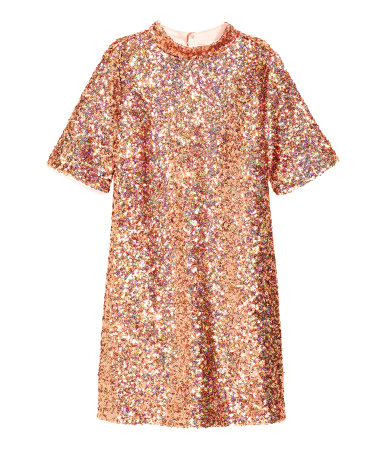 H&M Sequined Tunic Dress