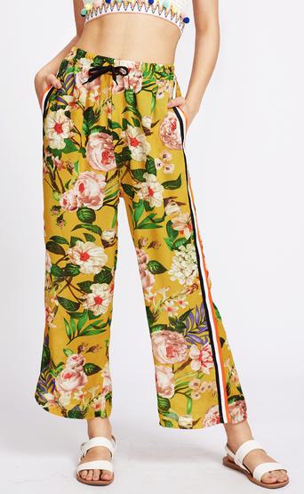 Floral Print Summer Pants