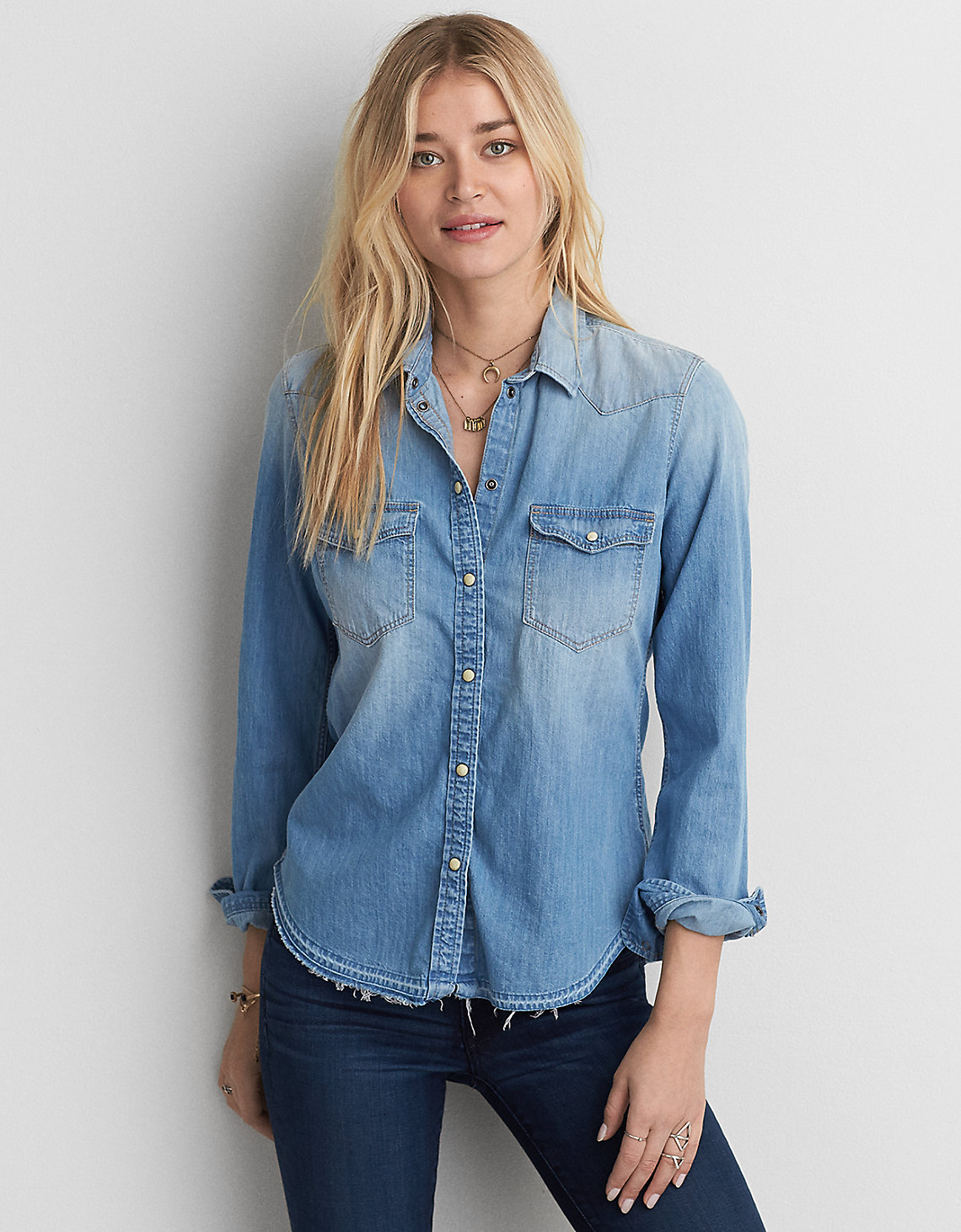 AEO Slim Fit Denim Shirt.jpg