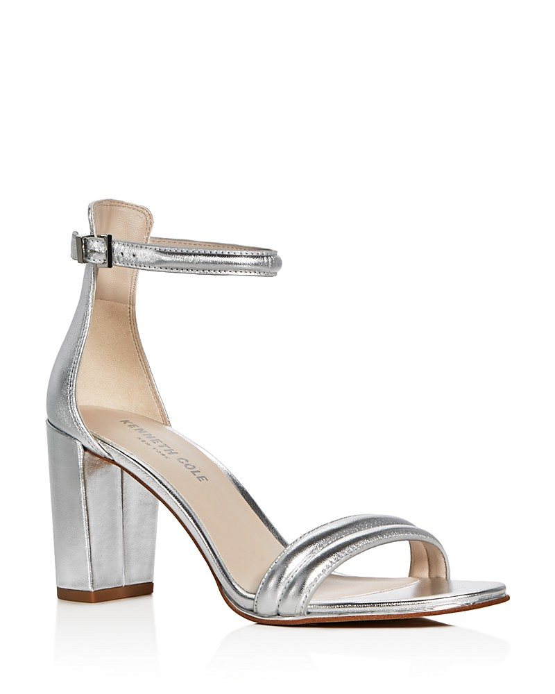 Kenneth Cole Silver Strappy Sandals.jpg